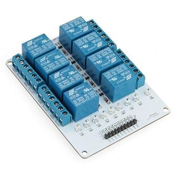 8 Kanal 5V Relais Modul PCB Relay Module fuer Arduino DSP PIC ARM ...