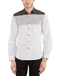 Locomotive Men's Casual Shirt (15110001471442_LMSH010652_M_White)