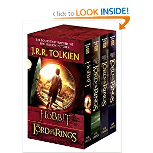 J.R.R. Tolkien 4-Book Boxed Set: The Hobbit and The Lord of the Rings (Movie Tie-in): The Hobbit, The... by