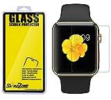 【2枚パック】【ShineZone】Apple Watch 42mm 専用強化ガラスフィルム 0.3mm 超薄型.表面硬度9H・飛散防止処理・ 気泡防止・高光沢 ・耐衝撃 保護シール