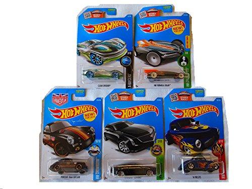 [New Hot Wheels Toy Car Custom Bundle of 5] (Batmobile Stroller Costume)
