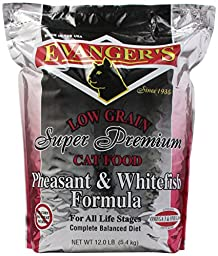 EVANGER\'S 776020 Pheasant and Whitefish Dry Cat Food, 12-Pound