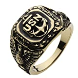 【セノーテ】 cenote r7002 17号 【ブラスアクセサリー リング・指輪】 真鍮 カレッジリング ネイビー 海軍 メンズリング