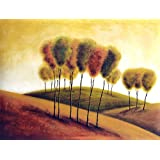 "Dolls Of India ""Rolling Hills"" Reprint On Paper - Unframed (57.15 X 43.18 Centimeters)"