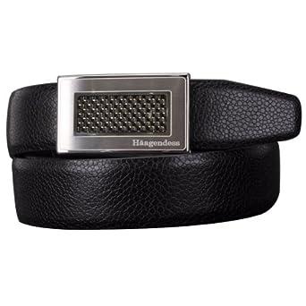 Haagendess Men's Genuine Leather Apparel Belt Medium Black