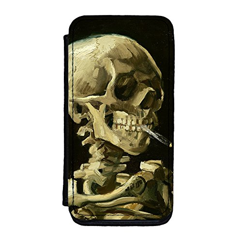 Head Of A Skeleton With A Burning Cigarette By Van Gogh Premium Faux Pu Leather Case, Protective Hard Cover Flip Case For Iphone 5C By Painting Masterpieces