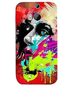 PrintVisa Stylish Cool Girl Art Print & Pattern 3D Hard Polycarbonate Designer Back Case Cover for HTC One M8