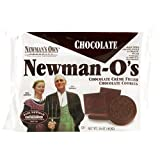 Newman's Own Organics Newman O's, Chocolate Creme Filled Chocolate Cookies, 16-Ounce Packages (Pack of 12)