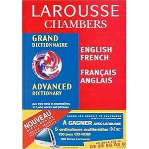 Grand Dictionnaire Larousse Chambers Anglais-Francais / Francais-Anglais