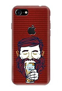 Apple IPhone 7 Covers, Logo Cut Cover, Designer Printed Back Case, Back Cover by CareFone