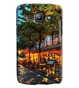 Blue Throat Café Sorbonne Printed Designer Back Cover/Case For Samsung Galaxy J1 Ace
