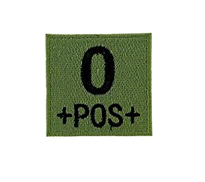Patch ecusson brodé airsoft tactical militaire groupe sanguin thermocollant camo - O+