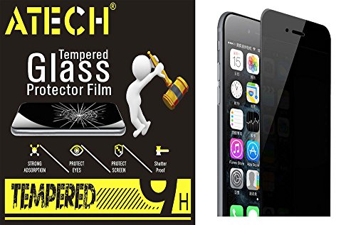 ATECH iPhone 7 Plus 5.5inch Privacy Screen Protector Anti-Spy Tempered Glass Screen Protector 9H Hardness 0.2mm 2.5D Scratch-Resistant Anti-Spy Glass Screen Shield for iPhone 7 Plus (iP7 Plus Privacy)