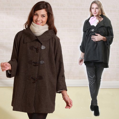 Sweet Mommy Mother Duffle Coat SJ1090 (black)