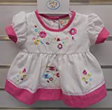 Premature Baby Dress Set With Embroidery 62 cm WhitePink