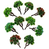 Magideal 10 Pieces 7cm DIY Model Trees Layout Train Landscape Scenery 1:150 Scale #1