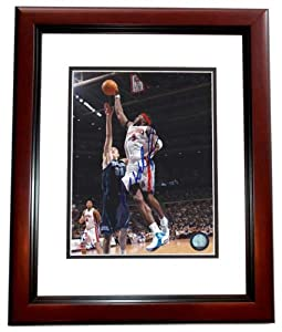 Ben Wallace Autographed Hand Signed Detroit Pistons 8x10 Photo MAHOGANY CUSTOM FRAME by Real Deal Memorabilia