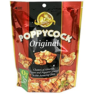 Poppycock Original Butter Almond & Pecan Popcorn Clusters, 3.5-Ounce Stand-up Bags (Pack of 12)