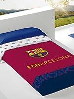 FC Barcelona Colcha Estampada Escudo (Azul / Granate)