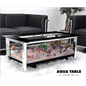 アクアテーブル 強化ガラス水槽付きローテーブル(大) アクアリウム・ジオラマ・コレクションテーブル向け