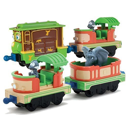 Chuggington StackTrack Duo Value Pack Includes Zephies Monkey Business and Mtambos Safari Cars