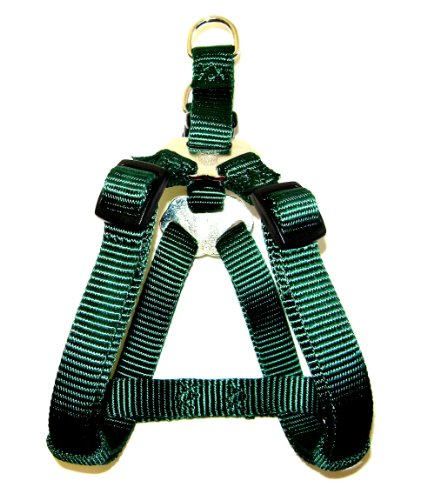 Hamilton Adjustable Easy-On Step-In Style Dog Harness, 3/8-Inch By 10-16-Inch, Extra Small, Dark Green