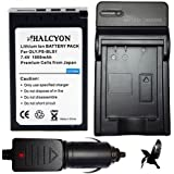 Halcyon Olympus BLS-1 BLS1 1800mAh 5 Year Warranty Replacement Olympus Lithium Li-on Digital Camera Battery and Charger Kit