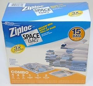 Amazon.com - Ziploc Space Bag 15 Bag Space Saver Set -