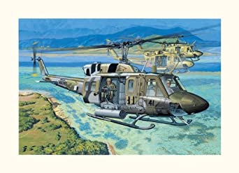 "Dragon 1/35 UH-1N ""Gunship"" Helicopter"