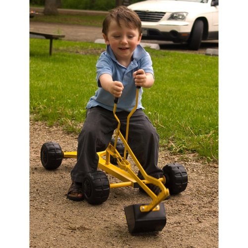 WonkaWoo Toys Metal Dig & Swivel Sand Digger Riding Toy