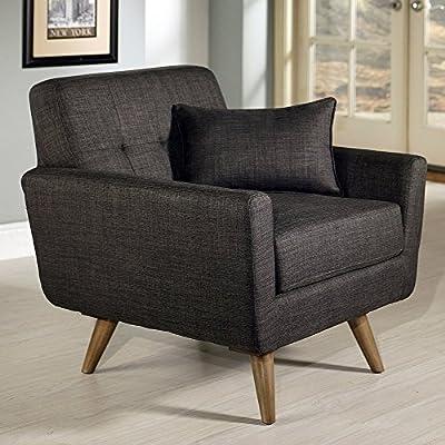 Abbyson Living Boise Tufted Fabric Armchair - Gray
