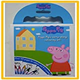 Peppa Pig Carry Along Colouring Set Kids School Fun Drawing Colour Set Crayons