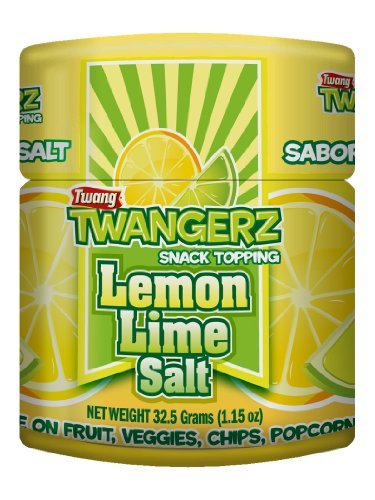 Twang Twangerz Flavored Salt Snack Topping - Lime, Lemon Lime, Mango Chili & Dill Pickle (Assorted, 4 Pack) (Popcorn Seasonings Dill compare prices)