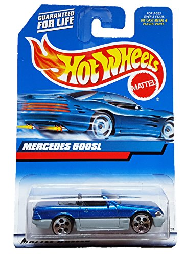 #2000-134 Mercedes 500SL Grey Base Collectible Collector Car Mattel Hot Wheels 1:64 Scale - 1