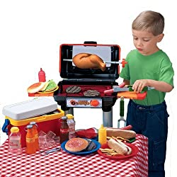 Cp Toys Bar B Que Pretend Play Set With Grill And Accessories