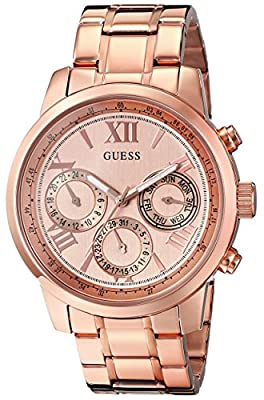 GUESS Women's U0330L2 Rose Gold-Tone Stainless Steel Watch
