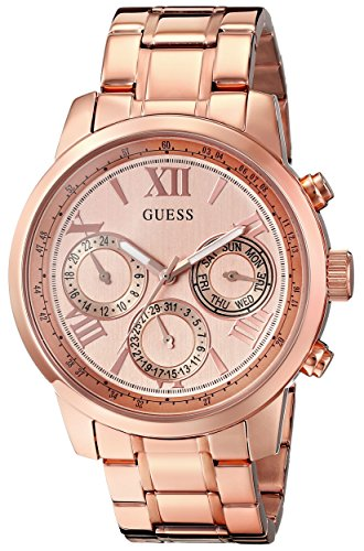 guess-womens-u0330l2-sporty-rose-gold-tone-stainless-steel-watch-with-multi-function-dial-and-pilot-