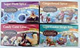 Celestial Seasonings Holiday Herbal Teas (Pack of 4) Sugar Plum Spice, Candy Cane Lane, Gingerbread Spice, and Sugar Cookie Sleigh Ride 20-Count