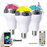 MicTuning PLAY BULB 電球型ワイヤレススピーカー LED SMARTライト Bluetooth搭載 音楽再生 コントロールできる スマートフォン/アイパッド/タブレット 対応 E27口金(1年安心保証付き)