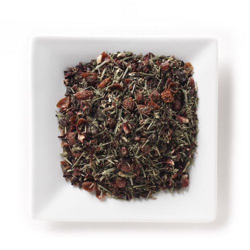 Mahamosa Cool Tropical Crimson Organic Tea 8 Oz - Flavored Herbal Tea Blend Loose Leaf (With Hibiscus, Rosehips, Lemongrass, Peppermint, Licorice Root, Passion Fruit Flavor)