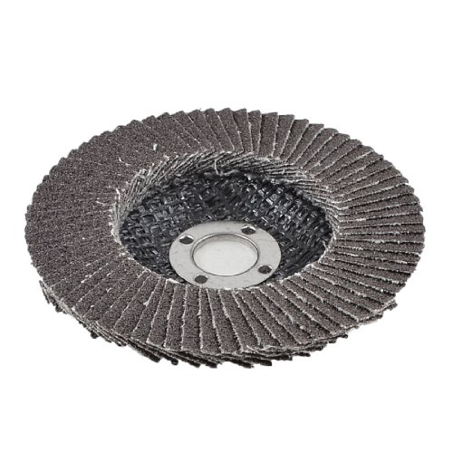 Amico Single Side 16mm Inner Dia 80# Grit Abrasive Flap Sanding Disc Buffing Wheel
