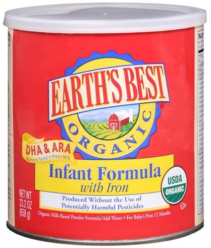 Earth'S Best Organic Infant Formula With Iron -- 25.75 Oz