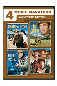 4 Movie Marathon: James Stewart Western Collection (Bend of the River / The Far Country / Night Passage / The Rare Breed) from Universal Studios