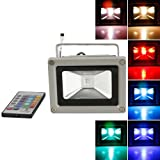 RioRand Colorful 10w RGB LED Flood Light Landscape Lamp + Remote Control