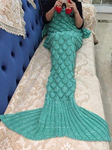 Meerjungfrau Decke, Noza Tec Handgemachte häkeln meerjungfrau flosse decke für Erwachsene, Mermaid Blanket alle Jahreszeiten Schlafsack thumbnail