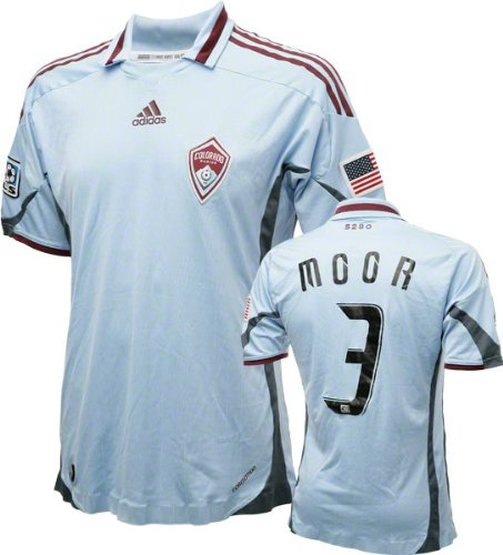 Drew Moor Game Used Jersey: Colorado Rapids #3 Short Sleeve Away Jersey