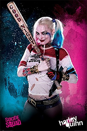 "Suicide Squad - Movie Poster / Print (Harley Quinn - Baseball Bat) (Size: 24"" x 36"")"