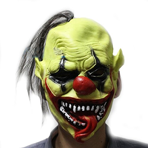 Samgo Halloween Green Faces Clown Latex Decoration Costume Masks