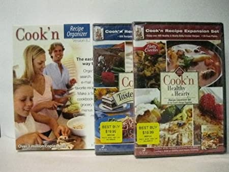 Cook'n Recipe Organizer 9 (8.2 w/free upgrade to 9) W/2 FREE Expansion sets---Windows 7 /Vista / XP / Me / 98 /95/2000