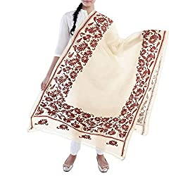 Kiara Crafts Women's Dupatta (kc-026_Cream_Freesize)